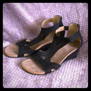 Black Wedge Shoes, size 10M